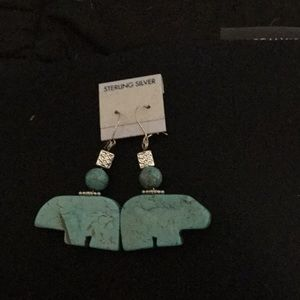 Jewelry - Native American inspired them earrings w silver.